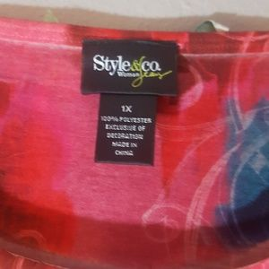 Style & Co Tops - Multi color plus size top